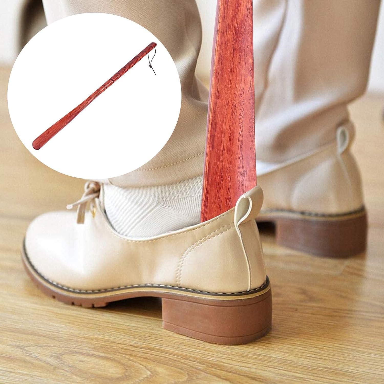 mujeres antiguo HEALLILY Calzador de madera con mango largo calzador vintage f/ácil de poner y quitar retro ideal como regalo de cumplea/ños para hombres embarazadas ni/ños ancianos