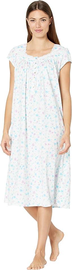 Cotton Jersey Knit Cap Sleeve Ballet Gown