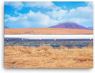 Bolivia Laguna Colorada, Arte Fenicottero Sulla Spiaggia Immagini Stampe Su Tela E Poster, Foto Animali Moderni, Opere D'A...