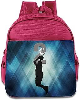 Custom Basketball Sport NO.2 Kawhi Personalized Kids Children School Backpack For 1-6 Years Old RoyalBlue