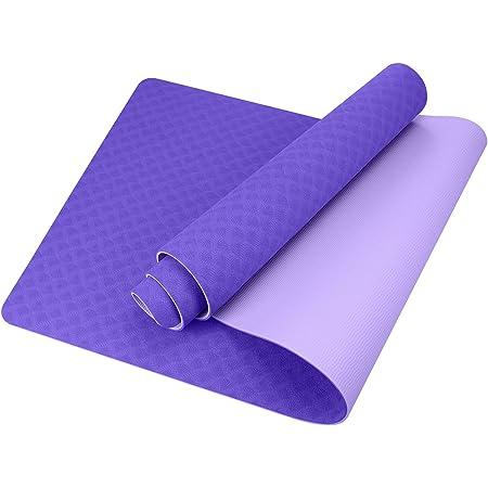 GISALA Tappetino Yoga, Tappetino Fitness Ecologico TPE 100% Materiali Riciclabili, Tappetino Palestra Antiscivolo e Antisudore Yoga Mat