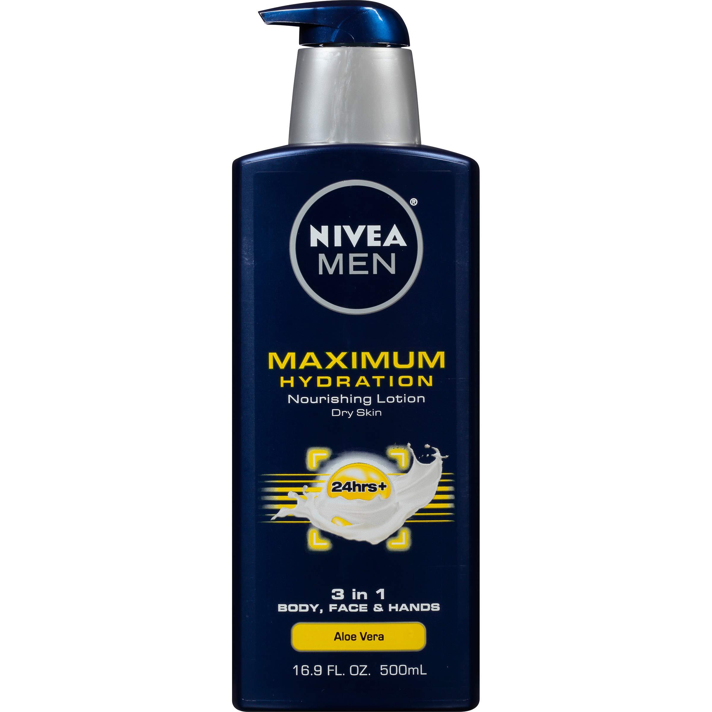 NIVEA Men Maximum Hydration 3 in 1 Nourishing Lotion 16.9 Fl Oz
