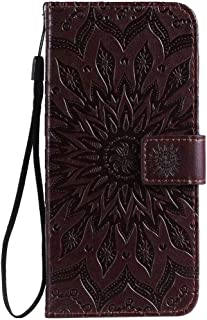 Hllycr A31 2020 Leather Flip Case Flip Kickstand Case with Card Slots Protective Cover for Oppo A31 2020 - Brown