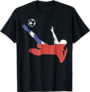 Soccer Football Chile Flag sport T shirt