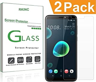 RKINC for HTC Desire 12 Plus Screen Protector, [2 Pack] Crystal Clear Tempered Glass Screen Protector [9H Hardness][2.5D Edge][0.33mm Thickness][Scratch Resist] for HTC Desire 12 Plus