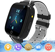 MeritSoar Kids Smart Watch with GPS Tracker SOS Camera Game 1.44 inch Touch Screen Sport Smartwatch Camera Cell Phone Girls Boys for iOS & Android (Q11 Black)
