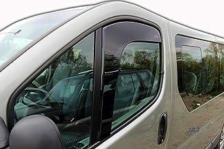 J&J AUTOMOTIVE - Deflectores de Viento para Renault Trafic 2001-2011, 2 Unidades