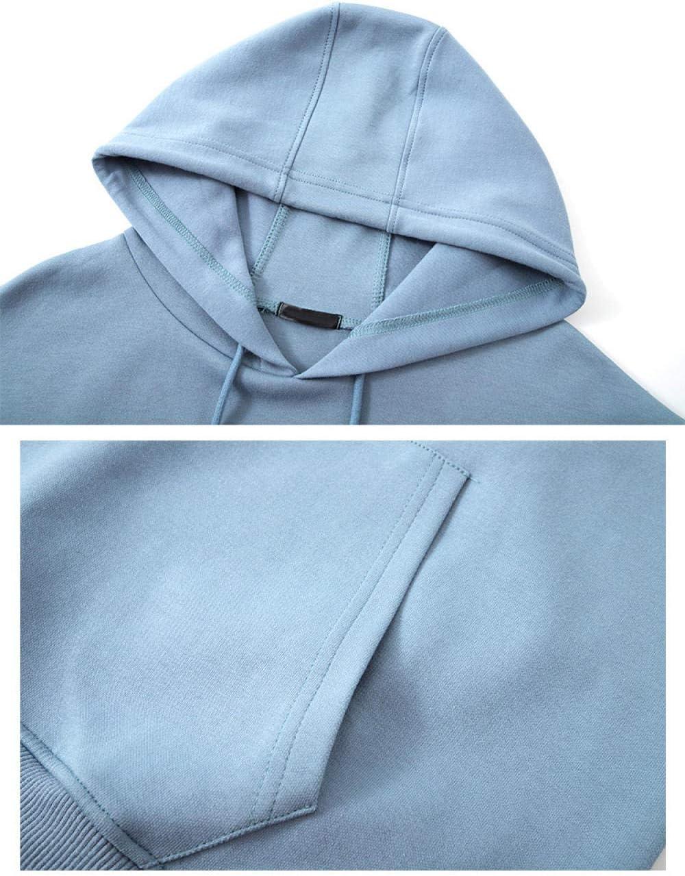 Femme Sweatshirts Manches Longues Sportswear Jumper Pull-Over Shirt,Automne et Hiver Femmes à Capuche mi-Longueur Plus t-Shirt en Polaire Ample décontracté surdimensionné bleu
