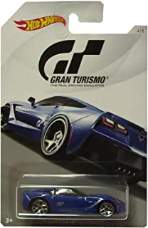 Hot Wheels 2014 CORVETTE STINGRAY 2018 GRAN TURISMO Series #2 Blue 2014 CORVETTE STINGRAY 1:64 Scale Collectible Die Cast Metal Toy Car Model #4/8