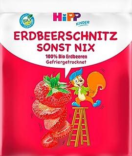 Hipp Kinder Knabberprodukte, Erdbeer-Schnitz sonst nix, 9er Pack (9 x 10g)