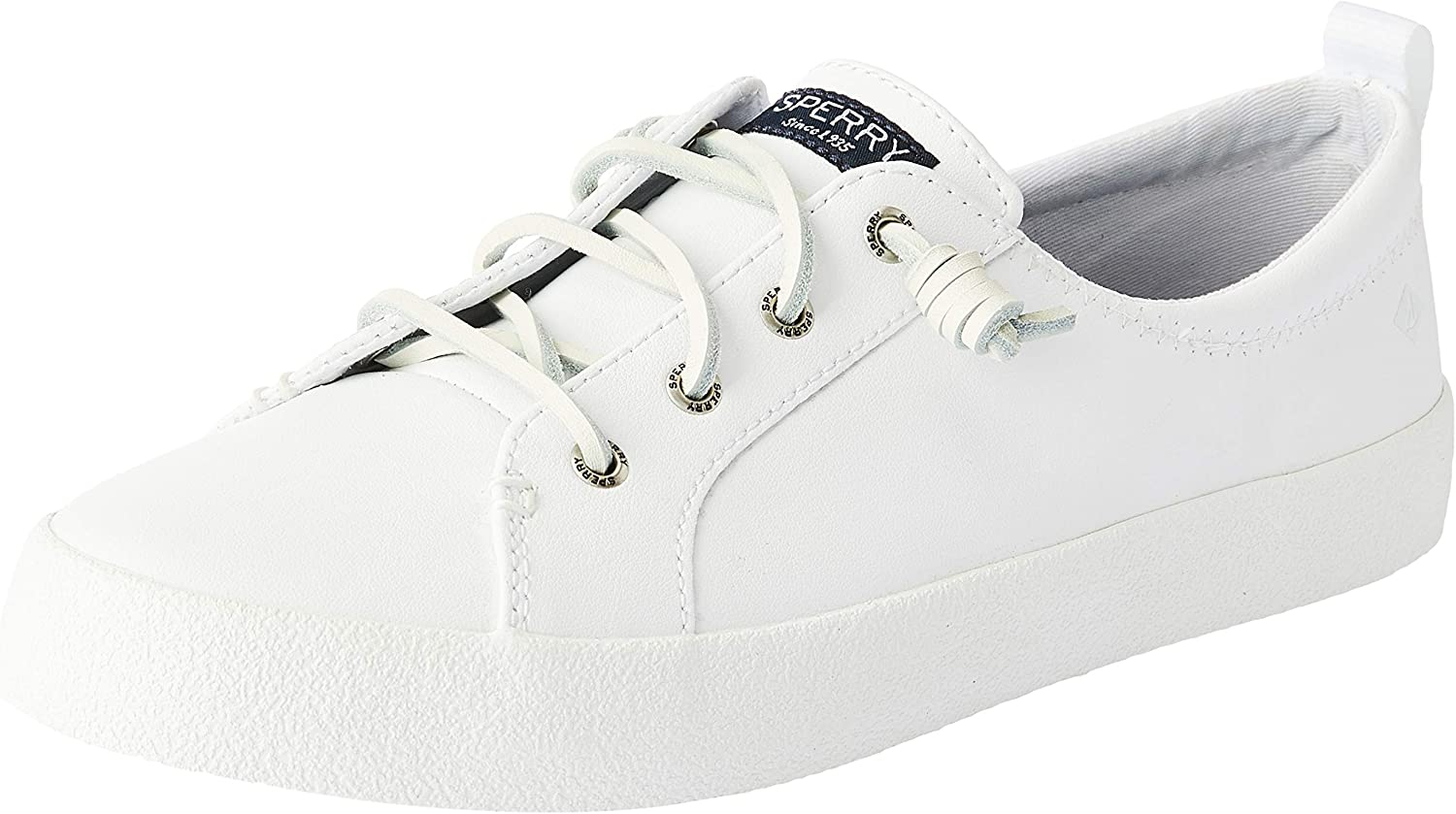 Sperry Womens Crest Vibe Ap Leather Low Top Lace Up Fashion Sneakers