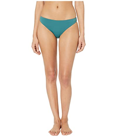 THE BIKINI LAB Solids Cinched Back Hipster (Dark Teal) Women