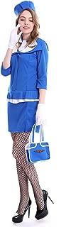 Women's Retro Stewardess Costume Flight Crew Halloween Dresses for Women