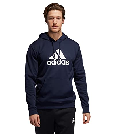 adidas Back to School Badge of Sport Hoodie (Legend Ink/White) Men