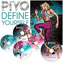 REIN HART Chalene Johnson's PiYo Base Kit,on 5 DVDs Weight Loss Exercise Video Course & Fitness Guide