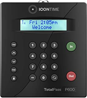 TotalPass P600 Employee Time Clock | Made in USA| Ready to Use Out-of-The-Box | Manage Timecards via USB, Network, Wi-Fi o...