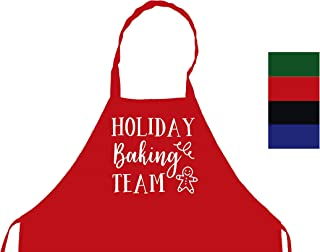 StickerChef Holiday Baking Team Cookies Christmas Pies Chef's Funny Cooking Apron Kitchen, BBQ Grill, Breathable, Machine Washable