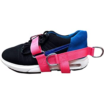 Physio PINK 3-D Ankle Foot Strap Cable Ext Machines 3-Ring Rehabilitation Foot