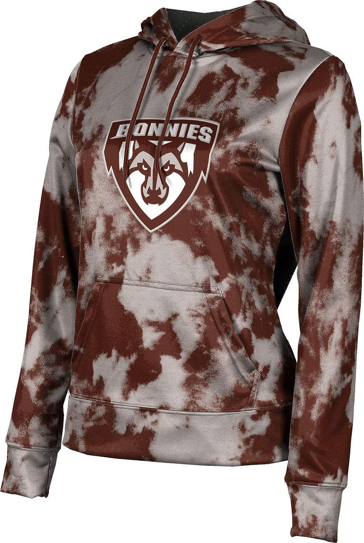 St. Bonaventure University Girls' Pullover Hoodie, School Spirit Sweatshirt (Grunge)
