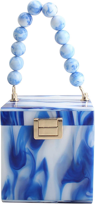 UMREN Women Square Max 80% OFF [Alternative dealer] acrylic Evening Purse bag Handbag Clutch Cros