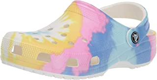 Crocs Unisex-Adult 205453-94S Classic Tie Dye Graphic Clog White Size: