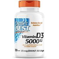 Doctors Best Vitamin D3 5000 IU for Healthy Bones 360 Count Deals