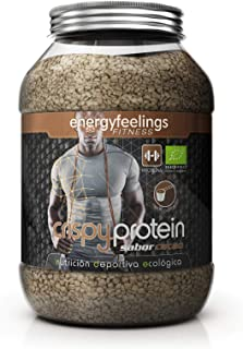Energy Feelings Crispy Protein Cacao ecológico - 700g | proteina 40% | fibra 18% | máxima calidad