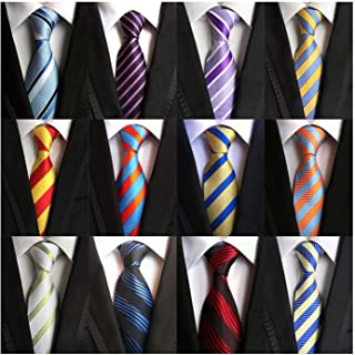 Weishang Lot 12 PCS Classic Men's Tie Silk Necktie Woven JACQUARD Neck Ties