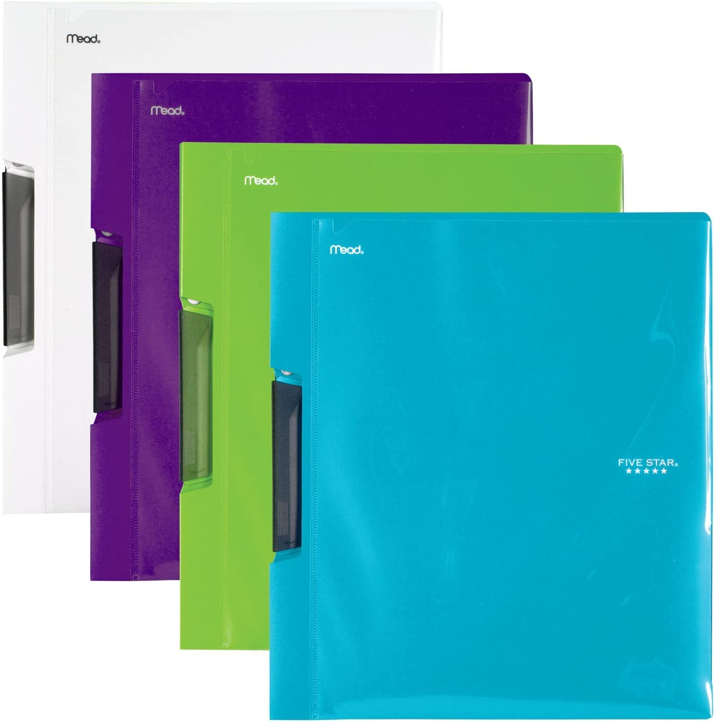 38116 4 Pack Lime White Five Star Report Cover Royal Purple Teal
