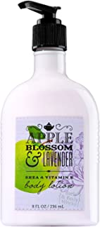 Bath and Body Works Apple Blossom Lavender Body Lotion 8 Ounce Full Size