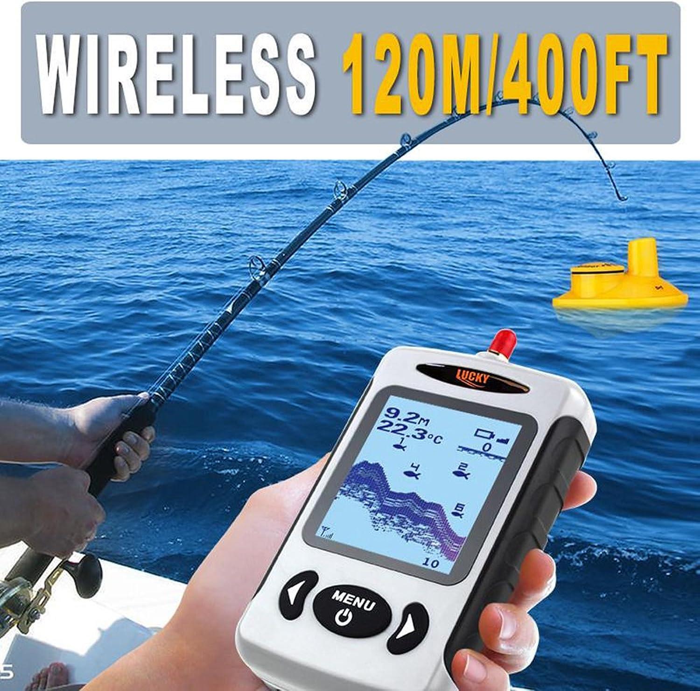 Bainuojia Fischfinder Wireless Farbe Farbe Farbe Tragbarer Portable Angeln Sonar Sensor Verkabelt LCD Tiefe Finder Echolot B07FS9RW9P  Liste der Explosionen 2aab66