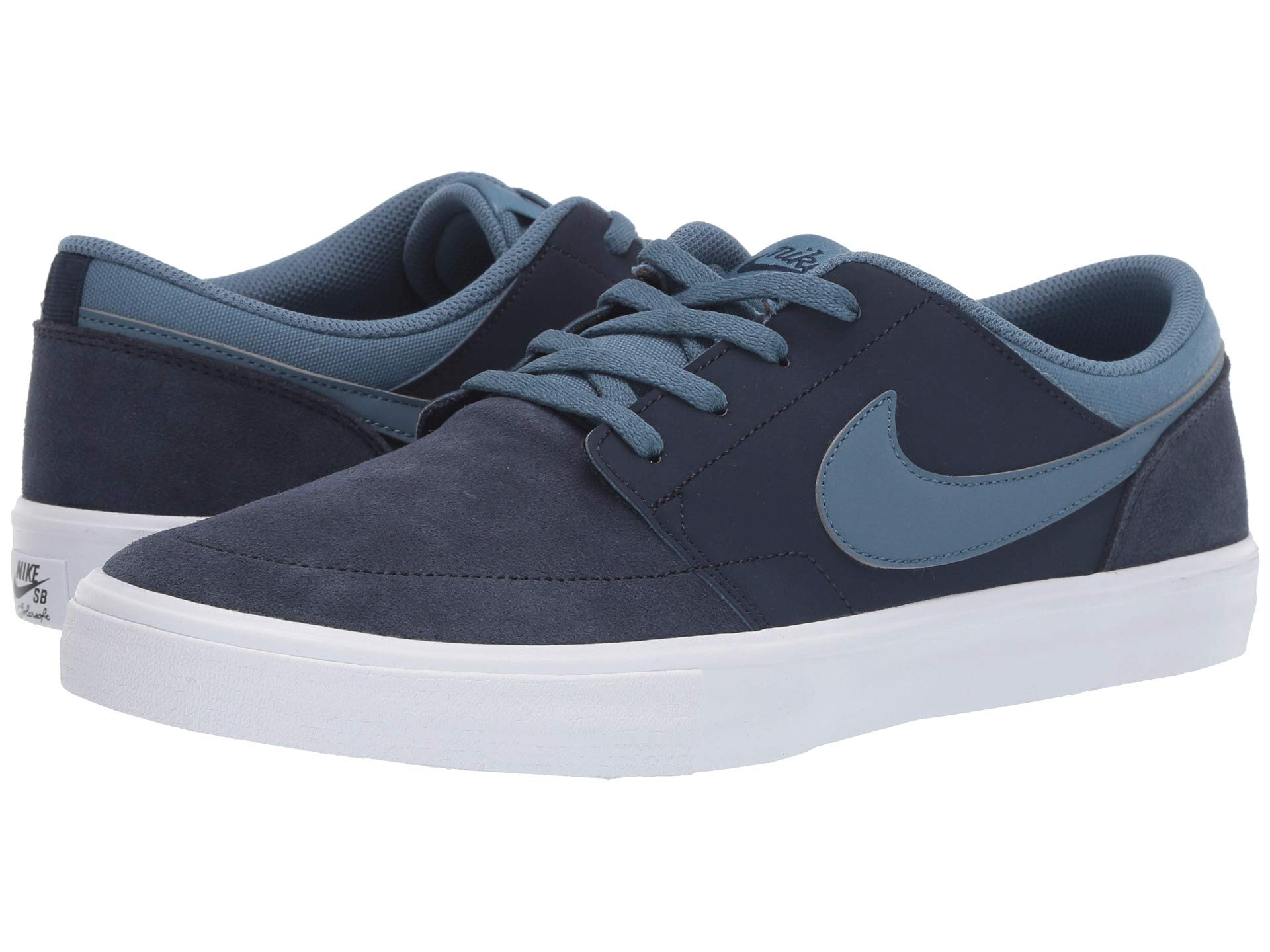 25c0519f amp; Shoes Suede thunderstorm Obsidian white – Sneakers Solar Athletic white  Nike Portmore Sb Ii qx6wOSP