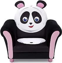 Delta Children Cozy Children's Chair - Fun Animal Character, Black & White Panda
