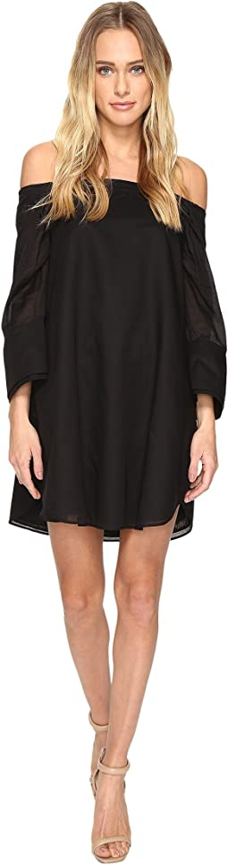 Wide Long Sleeve Dress w/ Cold Shoulder Detail