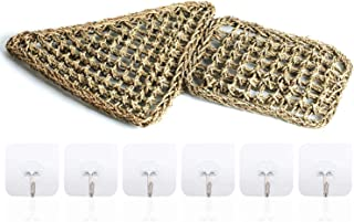 Wuhostam Reptile Hammock Lizard Lounger, 100% Natural Seagrass Fibers for Anoles, Bearded Dragons, Geckos, Iguanas, and Hermit Crabs with 6 Hooks