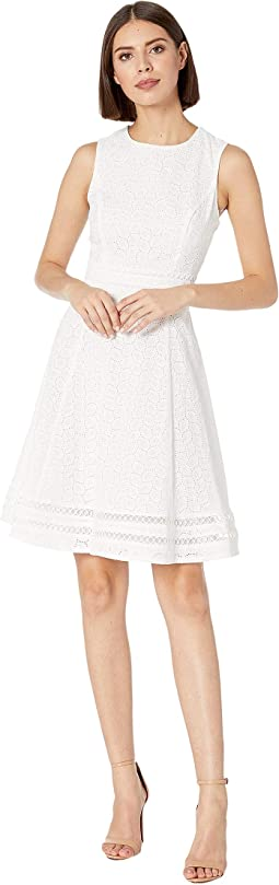 Cotton Eyelet A-Line Dress