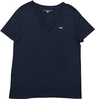 Tommy Hilfiger Women's Embellished Flag V-Neck T-Shirt