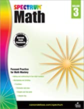 Spectrum Third Grade Math Workbook – Multiplication, Division, Fractions Mathematics With Examples, Tests, Answer Key for ...