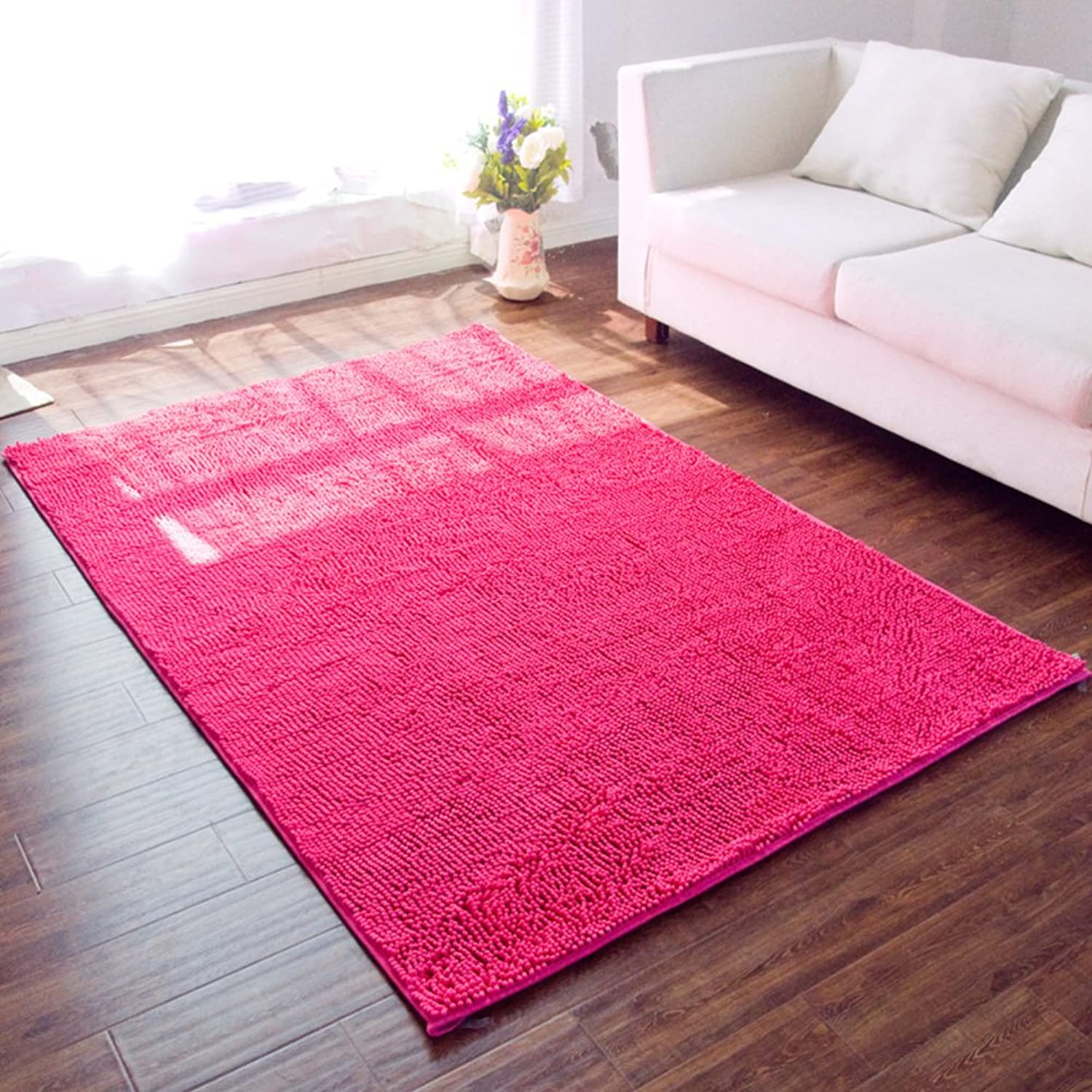 Doormat Chenille mat Anti-skidding,[Absorbent],Chenille,Living Room mat Kitchen,Health,Door mat-F 200x250cm(79x98inch)