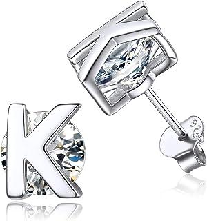 Silber Niedliche Buchstaben YES NO Ohrringe 7 x 5 mm R2H9