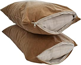 "Sleeprest 27""x17"" Set of Two Waterproof dustproof Pillow/Cushion Protectors Beige"