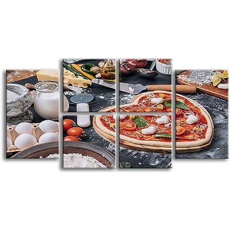 Quadri moderni su tela cm 70 x 150   Pizza 5232