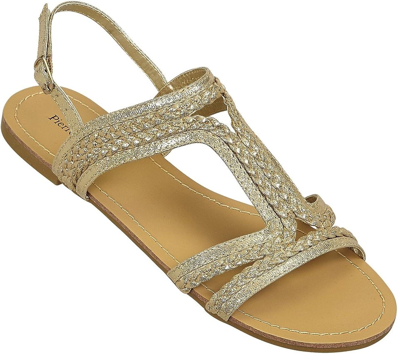 Pierre Dumas Womens Sandal Limit-1,8.5 B(M) US,pink-gold