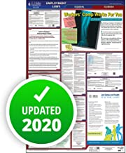 """2019 Florida Labor Law Poster, All-in-One OSHA Compliant FL State & Federal Laminated Poster (26"""" x 40"""" English) for Workplace Compliance - J. J. Keller & Associates"""