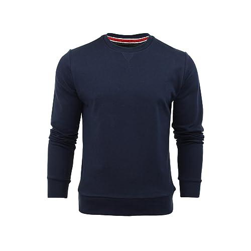 ef92c52e7b11 Mens Brave Soul Jones Overhead Sweatshirt V Insert Neck Pull Over Jumper