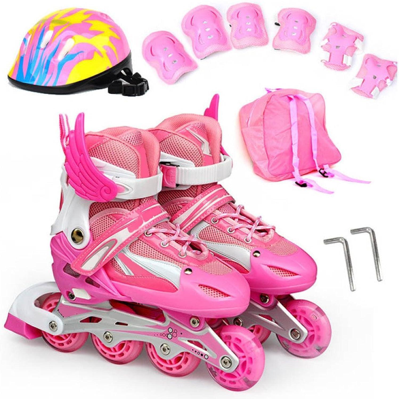 ZCRFY Rollschuhe Roller Skate Boys Boys Boys Kinder Skates Anfänger Einstellbar Einreihig Leuchtende Kinder Roller Schuhe Set Vier Räder Mädchen Erwachsene Schlittschuh B07FSB5Y16  Helle Farben 054d08