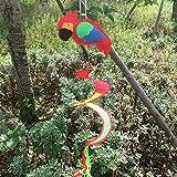 Dairyshop, girandola a spirale colorata, decorazione da giardino, motivo animali, 1 pezzo ...