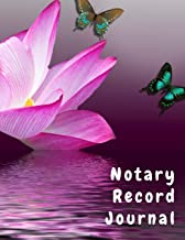 Notary Record Journal: Notary Public Logbook Journal Log Book Record Book,  8.5 by 11 Large, Funny Purple Lotus Cover