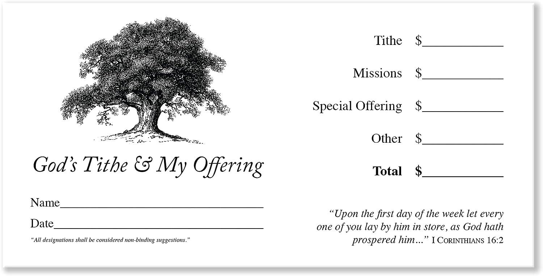 Virginia Beach Mall 500 Church Offering Envelopes Tithe safety Donation