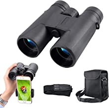 Portable Compact HD Binoculars 10x42 for Adults Waterproof Binoculars with Clear Weak Light Night Vision for Bird Watching, Travel, Stargazing, Hunting, Concerts, Sports